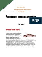 Especies en Argentina