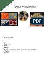 Materi Training Teknik Mikrobiologi Dasar (Transfer,Sterilisasi,Isolasi) (1)
