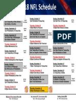 2018 NFL Schedule