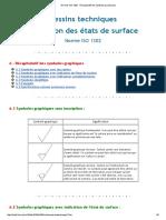 Normes ISO 1302 - Récapitulatif Des Symboles Graphiques