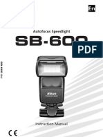 English manual for Nikon SB600 Flash