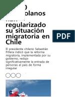 14.000 Venezolanos Han Regularizado Su Situación Migratoria en Chile