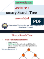 Lecture 3 - Binary Search Trees
