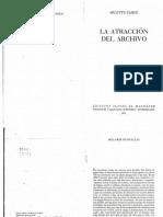 La Atracción Del Archivo - Arlette Farge