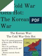 the cold war gets hot   the korean war