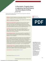 JAMA the Journal of the American Medical Association Volume 319 Issue 16 2018 [Doi 10.1001%2Fjama.2018.3197] Zhao, Qiang; Zhu, Yunpeng; Xu, Zhiyun; Cheng, Zhaoyun; Mei, Ju; -- Effect of Ticagrelor Plu
