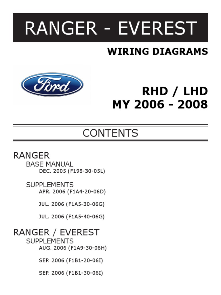RANGER EVEREST WIRING DIAGRAMS.pdf | Electrical Connector | Hvac