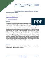 Parameter Identification Using Standard Transformations - An Alternative Hypothesis Testing Method