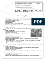 Prova de Português 4º Ano Ok
