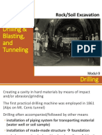 Week9_Modul-9a Boring, Drilling & Blasting and Tunneling