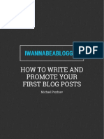 Write and Promote First Blog Posts