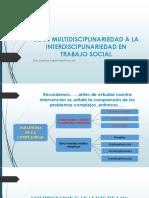 Clase 8. de La Multidisciplinariedad a La Interdisciplinariedad en El
