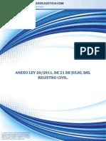 Anexo Ley 20-2011 Registro Civil