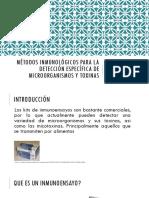 Métodos Inmunológicos Para La Detección Específica de m.o.