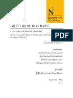 TIA - Determinación Del CP & Diseño de Estructura de Costos.