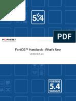 FortiOS Handbook Version 5.4.0 What's New