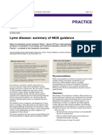 BMJ-Lyme Disease Summary of NICE Guidance