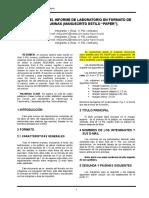 Preparación Del Informe de Laboratorio en Formato de Dos Columnas