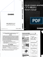 English operation manual for Scientific Calculator Casio CFX-9800G