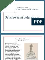 TXDAR Historical Markers