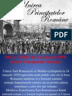 Unirea Principatelor Romane Istorie Liceu