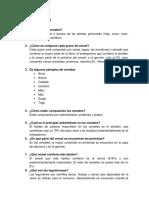 Cuestionario Cereales, Leguminosas, Grasas y Aceites