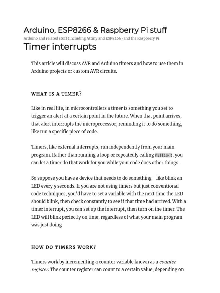 Timer Interrupts | Timer | Computer Engineering