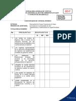 7 Cuestionario de Control Interno Transferencias Recibidas