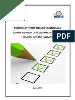Politicas Institucionales IDECOP