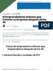 10 Emprendedores Exitosos Que Crearon Su Empresa Después de Los 40