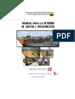 Manual para revisión de Costos y Presupuestos de Obras Viales.doc