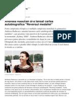Andreea Raducan Si-A Lansat Cartea Autobiografica Reversul Medaliei