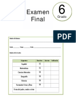 6to Grado - Examen Final (2017-2018)