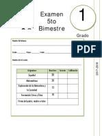 1er Grado - Examen Bloque 5 (2017-2018)