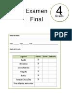 4to Grado - Examen Final (2017-2018)