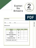 2do Grado - Examen Bloque 5 (2017-2018)