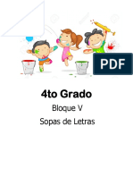 4to Grado - Bloque 5 - Sopa de Letras