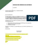 Carta de Renuncia Por Termino de Contrato