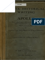 Wilamowitz - 1) Greek Historical Writings 2) Apollo