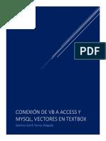 CONEXIÓN de VB, Vector en Textbox