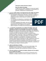 Cuestionario Examen Derecho Laboral