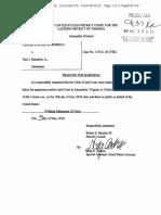 Robert Mueller filing, 70 blank subpoenas