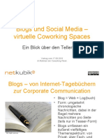 Blogs und Social Media – virtuelle Coworking Spaces