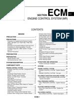 Ecm - Engine Control System (Mr20dd)