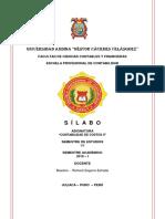 Silabo Conta Costos II 2018 i