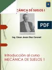 Introducción a Mecánica de Suelos 1 Ing. César Díaz