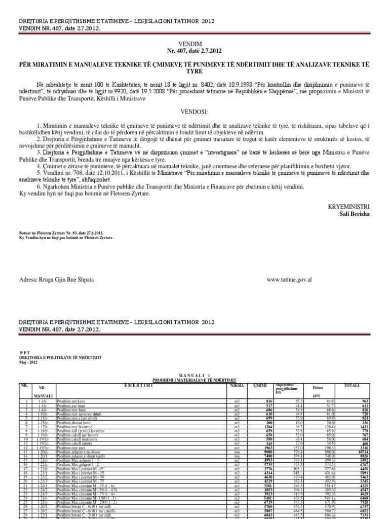 manuali i cmimeve 2012 pdf rh scribd com