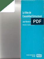 La Idea de Causalidad Estructural. Prólogo de Gustav Bueno