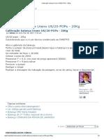 Calibração Balança Urano US_20-POPs - 20Kg
