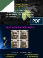 El Control de Las Emosiones